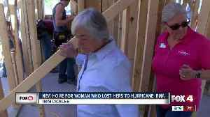 Volunteers build new house for woman whose home was damaged by Hurricane Irma [Video]