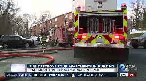 Fire destroys four apartment buildings leaving residents displaced [Video]