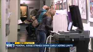 Federal judge in Wisconsin strikes early-voting restrictions [Video]