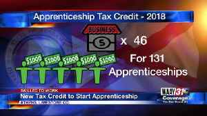 New Tax Credit to Start Apprenticeship [Video]
