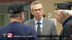 Brindisi commits to helping local farmers and veterans [Video]