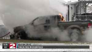 Firefighters stopped truck fire from spreading to house in Deerfield [Video]