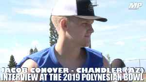 2019 BYU signee Jacob Conover interview at the Polynesian Bowl [Video]