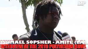 Ishmael Sopsher interview at the Polynesian Bowl [Video]