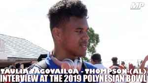 2019 Alabama signee Taulia Tagovailoa interview at Polynesian Bowl [Video]