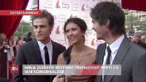 Nina Dobrev Is Friendly With Her Ex And His Wife [Video]