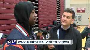 Dwyane Wade makes final NBA visit to Detroit [Video]