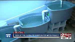 Teen getting global recognition for water project [Video]