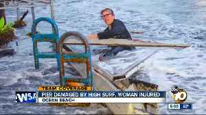 Ocean Beach Pier damaged by high surf, woman injured [Video]