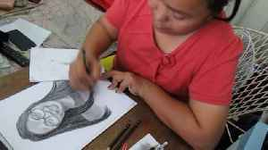 Doting teacher spends hours drawing portraits of her students [Video]