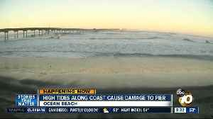 High tides along coast cause damage to OB Pier [Video]