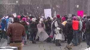 Winter weather doesn't stop people from attending Women's March 2019 in Cleveland [Video]