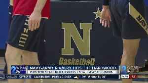 Navy takes Army rivalry to the hardwood [Video]