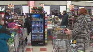 Shoppers Stock Up Ahead Of Storm, Patriots Playoff Game [Video]