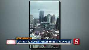Low-flying plane sparks concern in downtown Nashville [Video]