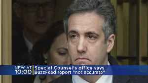 News video: Mueller's Office: BuzzFeed Story On Trump Lawyer Inaccurate