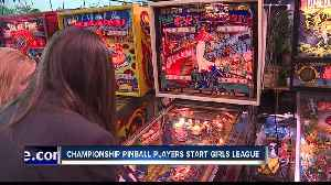 Lady pinball players start girls league, compete in championship [Video]