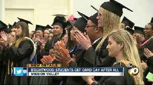 Brightwood College Students get graduation after school shutters [Video]
