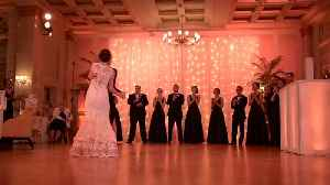 Very special surprise dance for bride who lost her father [Video]