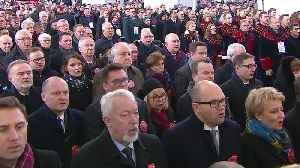 News video: Funeral held for Gdansk mayor stabbed at charity event