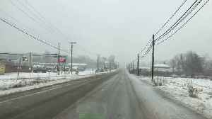 Raw Video: Snow Coming Down In New Castle [Video]