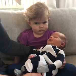 Toddler Big Sister Was Not Impressed With Her New Sibling [Video]