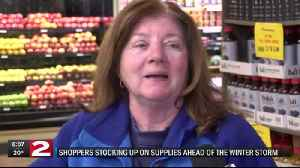 Shoppers stocking up for the winter storm [Video]