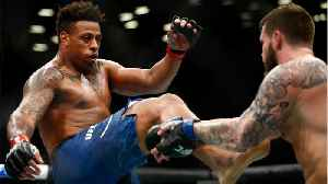 Greg Hardy's DQ'd From First UFC Fight [Video]