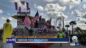 'Heroes for Education' float appears at South Florida Fair [Video]