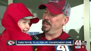 Chiefs fans from across the country flock to KC ahead of AFC Championship Game [Video]