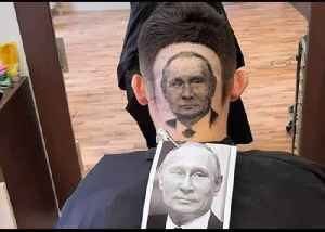 Serbian Barber Shaves Image of Putin Into Man's Hair [Video]