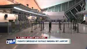 Flights canceled in and out of Buffalo Airport [Video]