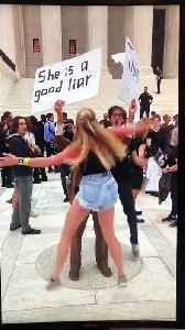 Girl Attacks Trump And Kavanaugh Supporter [Video]