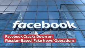 News video: Facebook Deletes Numerous Russian Fake News Accounts