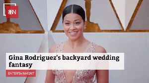 Gina Rodriguez Thought About A Quick Backyard Wedding [Video]