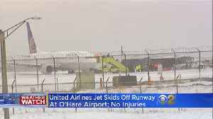 United Plane Skids Off Runway At O'Hare; No Injures [Video]