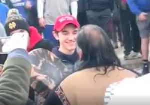 Teens in MAGA Hats Jeer Native American Elder in DC [Video]