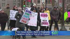 Hundreds Participate In Third Annual Women's March In Philadelphia [Video]