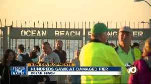 Hundreds gawk at OB Pier damage [Video]