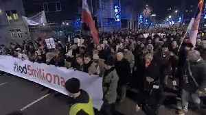 News video: Belgrade sees seventh week of anti-government protests