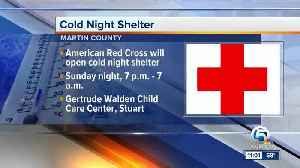 Cold night shelter opening Sunday night in Martin County [Video]