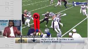 Dallas Cowboys linebacker Jaylon Smith: Los Angeles Rams defense needs to contain New Orleans Saints running back Alvin Kamara [Video]