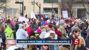 Demonstrators gather in downtown Nashville for Women's March [Video]