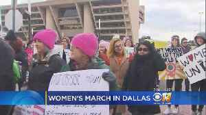 Democratic Party Co-Hosts Women's March In Dallas [Video]