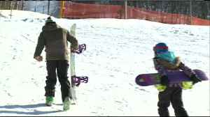 Hundreds of skiers, snowboarders take advantage of fresh snow at Mt. La Crosse [Video]