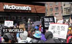 Fight for $15 continues in the US | FT World [Video]