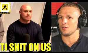 TJ Dillashaw abruptly ends interview which pisses off Matt Serra,Colby Covington on Dana White,Cain [Video]