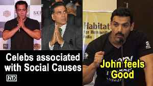 John feels nice to see B'wood celebs associated with Social causes [Video]