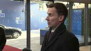 News video: Jeremy Hunt: UK 'committed' to Good Friday Agreement