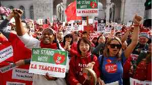 Los Angeles Teachers On Strike Resume Negotiations Over MLK Holiday [Video]